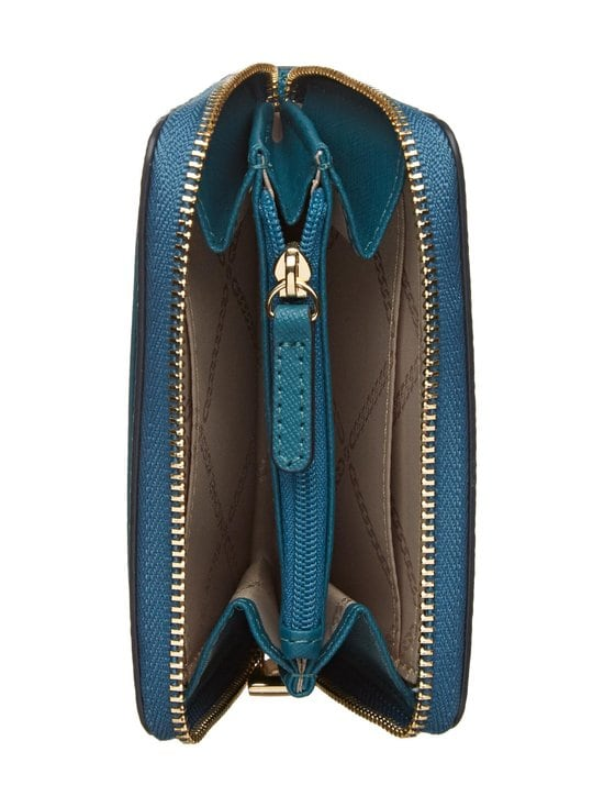 Michael Michael Kors - Mott Zip Around Coin Card Case -nahkalompakko - 434 DARK CYAN | Stockmann - photo 3