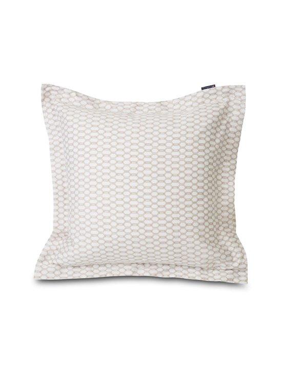 Lexington - Printed Cotton Sateen -tyynyliina - WHITE/DK BEIGE   Stockmann - photo 2