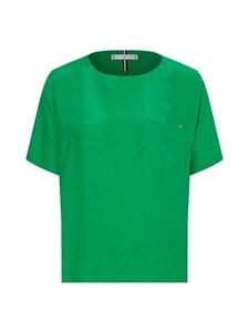 Tommy Hilfiger - CUPRO T-SHIRT BLOUSE SS -paita - L14 PRIMARY GREEN   Stockmann