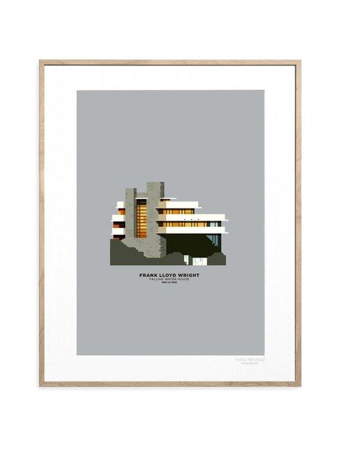 Le Duo Fallingwater Archi -juliste 30 x 40 cm