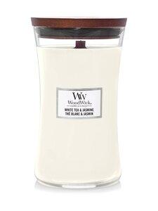 Woodwick - White Tea & Jasmine Large -tuoksukynttilä - WHITE | Stockmann