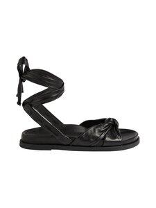 Ted Baker London - Pilford Knotted Leather Flat -nahkasandaalit - BLACK | Stockmann