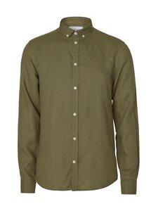 Les Deux - Christoph Linen Shirt -pellavakauluspaita - 510510-LICHEN GREEN | Stockmann