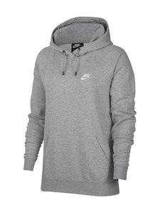 Nike - Essential-huppari - 063 DK GREY HEATHER/WHITE | Stockmann