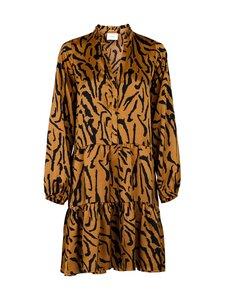 Neo Noir - Federica Satin Zebra Dress -mekko - 210 BROWN | Stockmann