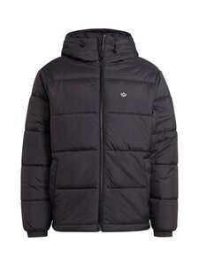 adidas Originals - PAD HOODED PUFF -toppatakki - BLACK BLACK   Stockmann