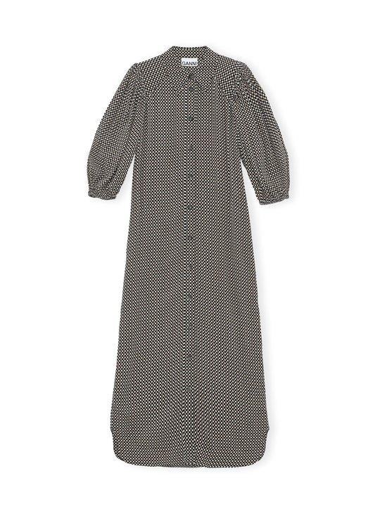 Ganni - Printed Crepe Shirt Dress -paitamekko - TANNIN 185 | Stockmann - photo 1