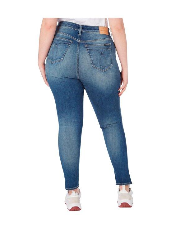 Calvin Klein Jeans Plus - High Rise Skinny Ankle -farkut - 1A4 BB233- MID BLUE DSTR TWIST HEM | Stockmann - photo 2