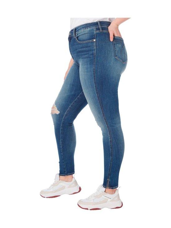 Calvin Klein Jeans Plus - High Rise Skinny Ankle -farkut - 1A4 BB233- MID BLUE DSTR TWIST HEM | Stockmann - photo 4