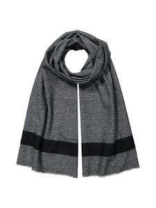 Marc O'Polo - Cotton Wool Glencheck Scarf -puuvillasekoitehuivi - 847 BLUE CHECK | Stockmann