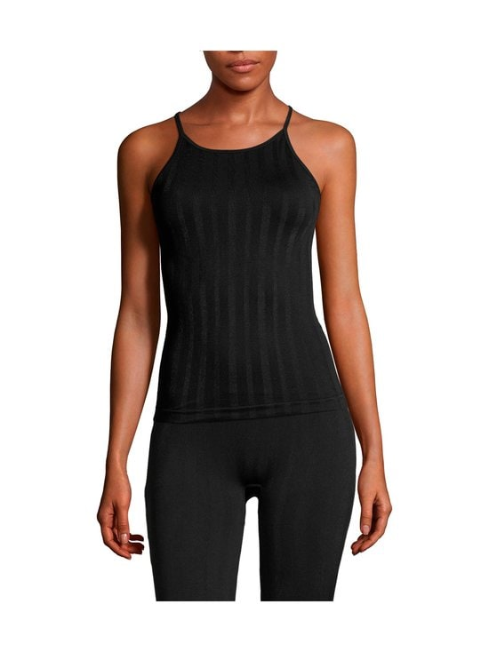 Casall - Shiny Matte Seamless Strap Tank -treenitoppi - 901 BLACK | Stockmann - photo 2