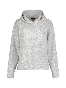 GANT - D1. Icon G Jacquard Sweat Hoodie -huppari - 94 LIGHT GREY MELANGE | Stockmann