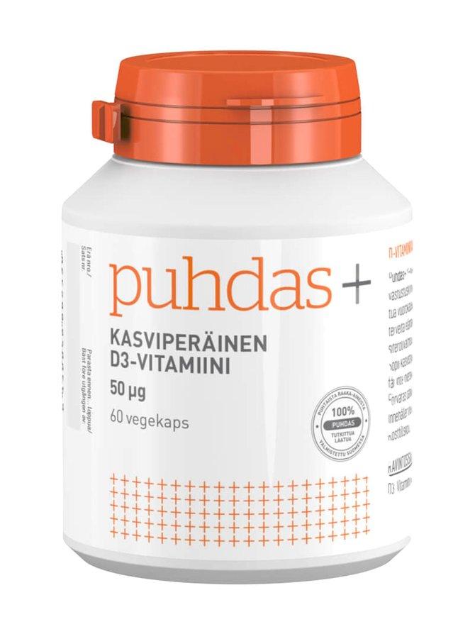 Kasviperäinen D3-vitamiini 50 µg 60 kaps.