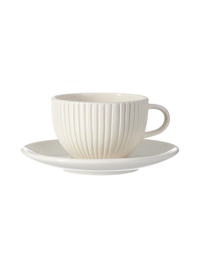 Riscada- kahvi-/teekuppi ja lautanen