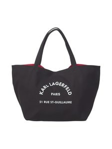 Karl Lagerfeld - K/Rue St Guillaume Canvas Tote -laukku - 999 BLACK   Stockmann