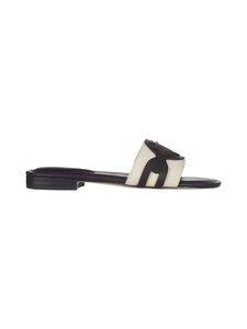 Lauren Ralph Lauren - Alegra Canvas-Leather Slide -sandaalit - NATURAL | Stockmann