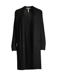 cut & pret - AIRY long cardigan -villaneuletakki - BLACK SOLID | Stockmann