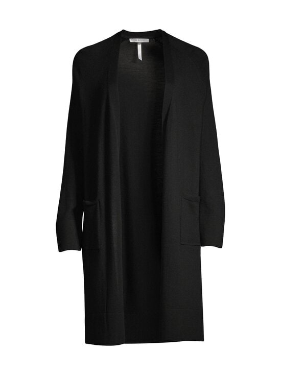 cut & pret - AIRY long cardigan -villaneuletakki - BLACK SOLID | Stockmann - photo 1