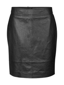 SECOND FEMALE - Francie Mini Leather Skirt -nahkahame - 8001 BLACK | Stockmann