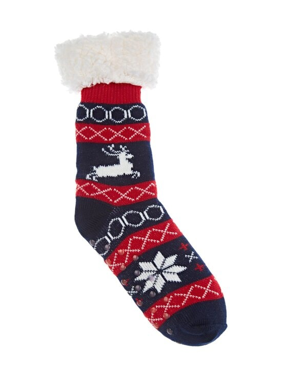 Cuddly Socks - Lapland-sukat - 4898 NAVY/ROSSO/OFFWHITE | Stockmann - photo 1