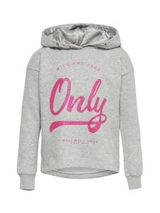 KIDS ONLY - KonWendy Life -huppari - LIGHT GREY MELANGE PRINT:CURSIVE GLITTER PINK GLO | Stockmann