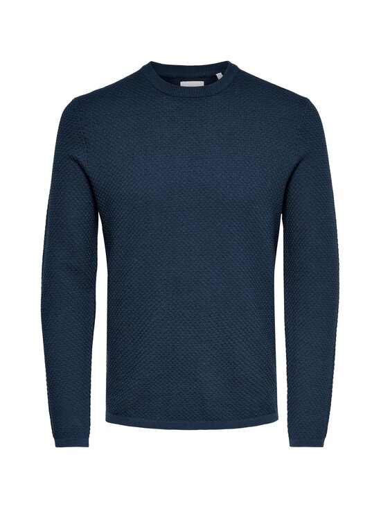 Only & Sons - OnsDanny Structure Crew Neck -puuvillaneule - DRESS BLUES | Stockmann - photo 1