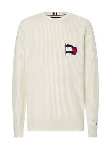 Tommy Hilfiger - Wavy Flag Graphic Rib Sweater -neule - YBI IVORY | Stockmann