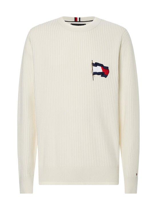 Tommy Hilfiger - Wavy Flag Graphic Rib Sweater -neule - YBI IVORY | Stockmann - photo 1