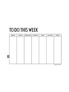 Design Letters - Weekly Planner -vihko - VALKOINEN | Stockmann