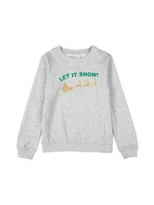 KIDS ONLY - KonChristmas-collegepaita - LIGHT GREY MELANGE PRINT:LET IT SNOW | Stockmann