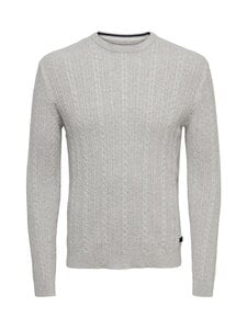 Only & Sons - OnsRige-puuvillaneule - LIGHT GREY MELANGE | Stockmann