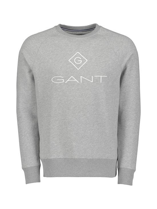 GANT - Lock-Up C-Neck Sweat -collegepaita - GREY MELANGE | Stockmann - photo 1