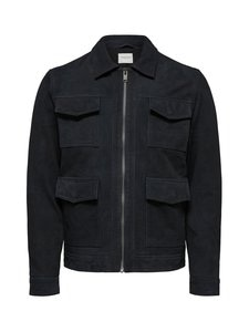 Selected - SlhConnor Nubuck Jacket -nahkatakki - BLUE GRAPHITE | Stockmann