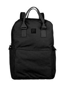 Fila - Coated Canvas Convertible Mid Backpack -reppu - 2 BLACK | Stockmann