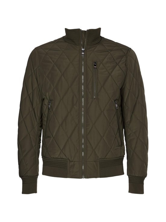 Tommy Hilfiger - Diamond Quilted Bomber -takki - MSE PROCESS GREEN | Stockmann - photo 1