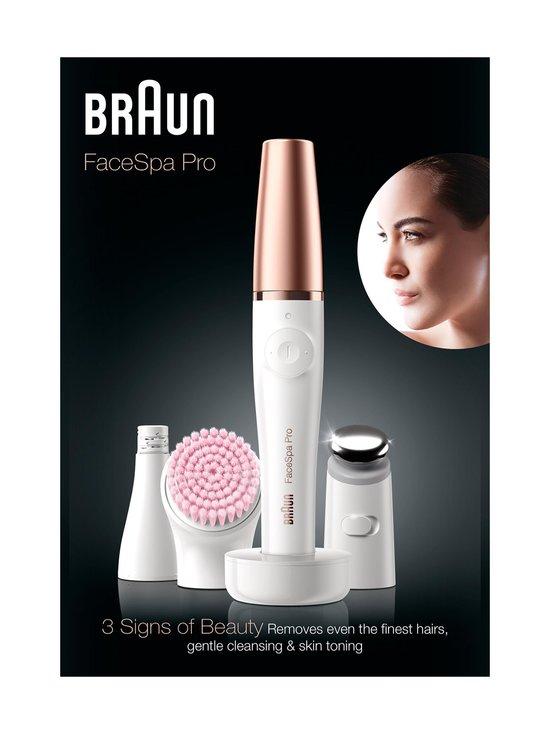 Braun - FaceSpa Pro 912 -kasvoepilaattori - VALKOINEN/PRONSSI | Stockmann - photo 1