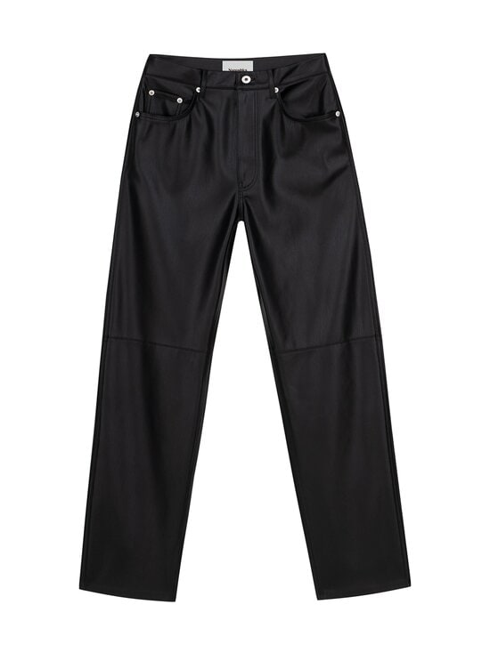 Nanushka - Vinni Pants -tekonahkahousut - BLACK | Stockmann - photo 1