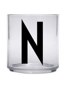 Design Letters - Kids Personal Drinking Glass -juomalasi, N - KIRKAS | Stockmann