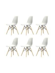Vitra - Eames DSW -tuoli, 5+1 kpl - VALKOINEN/VAALEA VAAHTERA | Stockmann