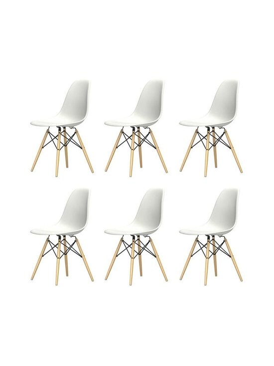 Vitra - Eames DSW -tuoli, 5+1 kpl - VALKOINEN/VAALEA VAAHTERA | Stockmann - photo 1