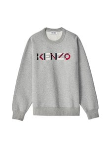 Kenzo - Classic Fit Sweatshirt -collegepaita - 94 - ORGANIC BRUSHED MOLLETON - PEARL GREY | Stockmann
