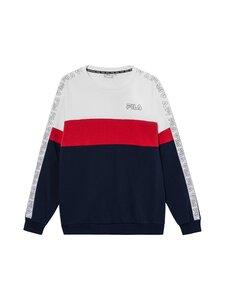 Fila - JACOBY-collegepaita - A023 BRIGHT WHITE-BLACK IRIS-TRUE RED | Stockmann