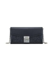 MCM - Large Patricia Crossbody Wallet in MCM Monogram Leather -nahkalaukku - BLACK | Stockmann