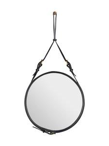 Gubi - Adnet Wall Mirror Circular -peili ⌀ 45 cm - BLACK LEATHER | Stockmann