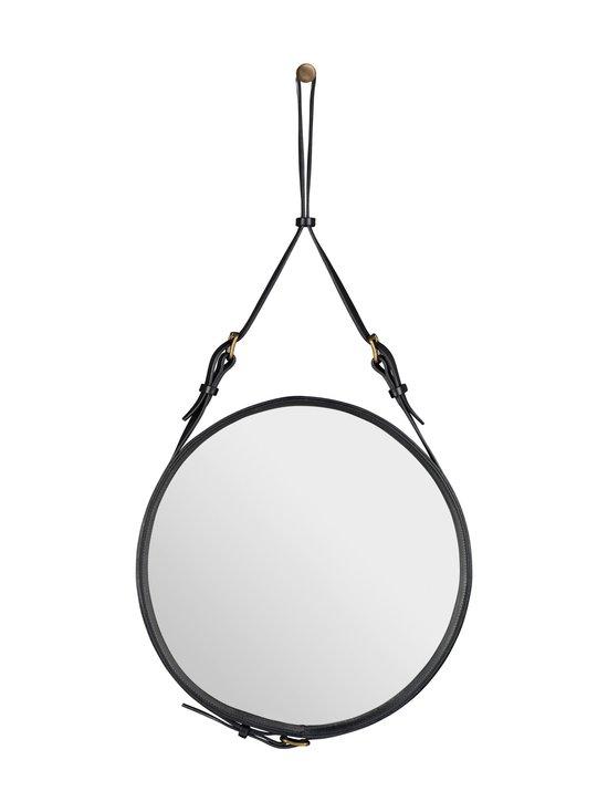 Gubi - Adnet Wall Mirror Circular -peili ⌀ 45 cm - BLACK LEATHER | Stockmann - photo 1