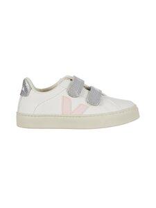VEJA - Small Esplar Velcro -nahkasneakerit - EXTRA WHITE PETALE SILVER | Stockmann