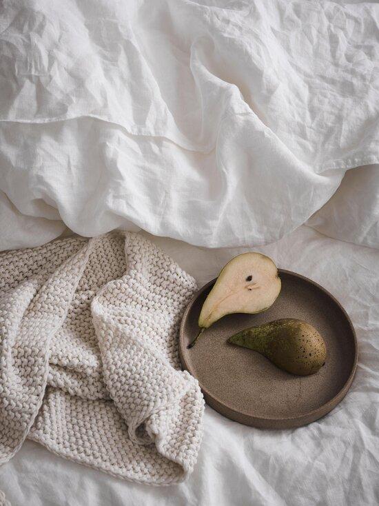 Marc O'Polo Home - Nordic Knit Plaid -huopa 130 x 170 cm - OATMEAL | Stockmann - photo 1