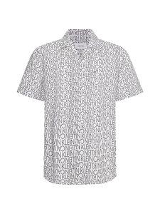 Calvin Klein Menswear - CUBAN COLLAR LOGO PRINT -paita - YAF BRIGHT WHITE   Stockmann