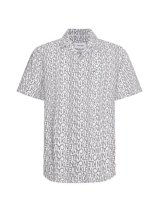 Calvin Klein Menswear - CUBAN COLLAR LOGO PRINT -paita - YAF BRIGHT WHITE   Stockmann - photo 1