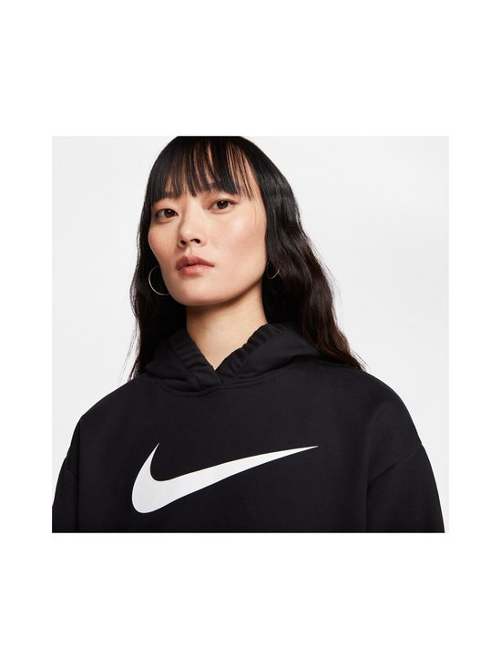 Nike - W Sportswear Swoosh Hoodie -huppari - 010 BLACK/WHITE | Stockmann - photo 5